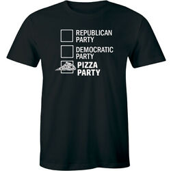 Republican Party Democratic House Pizza Party Funny Voting T-Shirt for Men