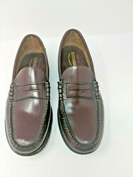 Sebago Classic Brown Leather Men's Loafers Slip-On Shoes B76654 Size 10.5 12 D