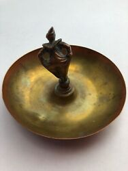 Vintage Mens Jewelery or Coin Valet Tray CopperBronze with Clown Centerpiece