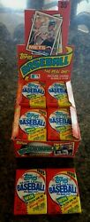 (2) 1985 topps baseball wax packs