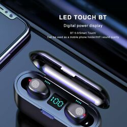 Bluetooth 5.0 Earbuds TWS Wireless Earphones Twins Headset Stereo Headphones