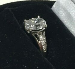 White Gold Diamond Ring w 1.5+ct Center Oval Diamond! F color MUST SEE $7900