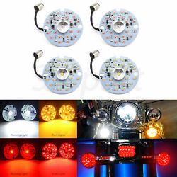 LED Turn Signal Lights Indicators Smoke Lens Front Rear Fit for Harley Touring $36.50
