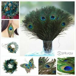 10-100Pcs 100% Real Natural Peacock Feathers 10-12