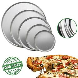 Pizza Pan Standart Aluminum Oven Plate Wide Rim Non Stick Baking Tray 8 To 16 In