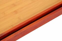 2 Pack Serving Tray - Food Tray Set - Wood Serving Tray With Handles - Food Serv