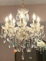 8 LIGHT 26quot; CHROME FOYER DINING ROOM KITCHEN CRYSTAL BEDROOM HALLWAY CHANDELIER $750.00
