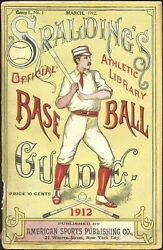 1912 Spalding Baseball Guide 1st Mention Shoeless Joe Jackson S B HOF $299.00