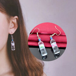 Creative Mineral Water Bottle Earrings Long Beer Bottle Pendant Earrings Jewe KK
