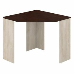 Bush Furniture Townhill Corner Desk in Washed Gray and Madison Cherry $94.24