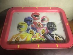 Vintage 1994 Mighty Morphin Power Rangers Metal TV Bed Lap Serving Tray w Legs