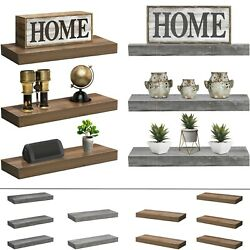 Sorbus Floating Shelf Set Rustic Wood Hanging Rectangle Wall Shelves 2 or 3 Pack $39.99