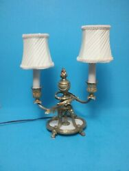 Antique Handcrafted Brass TableDesk Lamp Made In Germany