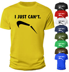 Men Funny T Shirt I Just Can#x27;t Cool Parody Lazy Novelty joke Gift 100% Cotton $12.90