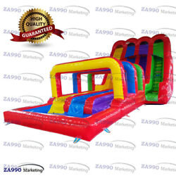 40x16ft Commercial Inflatable Water Triple Slip N Slides With 2 Air Blowers $6,075.00
