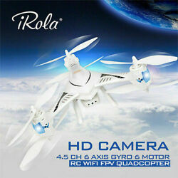 2.4GHz WIFI FPV Real time RC Drone RTF 4.5 CH 6 Axis Gyro LED Quadcopter HD US $79.49