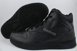 REEBOK ROYAL BB4500 H2 HIGH HI WIDE E BLACK GRAY CLASSIC BASKETBALL LEATHER MENS $68.99