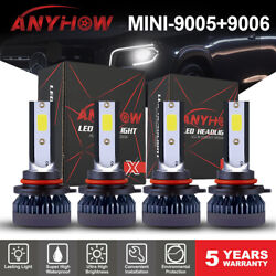 Combo 9005 9006 4-Side LED Headlight Kit 2500W 280000LM High Low Beam Bulb 6000K