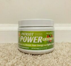 Patriot Power Greens Berry Flavor 5.7 oz - 30 Servings - New Sealed