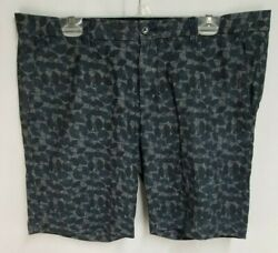 Ben Sherman Mens sz 38 Blue Black Vinyl Records Print Cotton Shorts