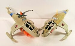 LOT OF 2 KENNER 1993 JURASSIC PARK HELICOPTERS FOR PARTS AS IS AND FREE SHIPPING $32.99