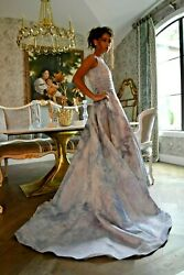 NEW Paloma Blanca Wedding Dress Gown Bohemian lavender white purple 4 6 8 small