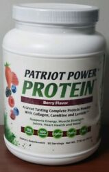 Patriot Power Protein Berry Flavor  30 Servings Brand NewSealed