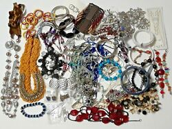 3 pound Lot of mixed jewelry. Necklaces bracelets earrings. New + vintage mix