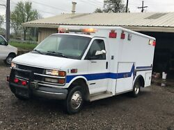 CHEVROLET G3500 AMBULANCE 7.4 L GAS V8 LIGHTS SIREN