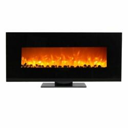 WOLFIRE® 50quot; Wall Mount Fireplace Standing Electric Adjustable Heater w Tempered $499.98