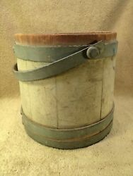 Antique Primitive OLD HAND PAINT SIGNED GREEN 12