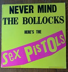 Never Mind The Bollocks Here's The Sex Pistols LP 1977 New Zealand Import