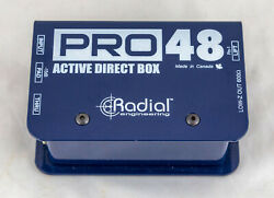 Radial Engineering PRO 48 ACTIVE Active 48-Volt DIRECT BOX Guitar Bass Musician