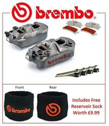 Brembo M4 Front Brake Calipers To Fit Honda CB1000R 2008 SC Pad Upgrade