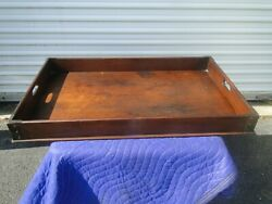 Antique Solid Walnut Butler's Tray Serving Tray