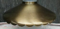 Vintage Bronze colored NOS Metal Scalloped Edge Lamp Light Shade $14.99