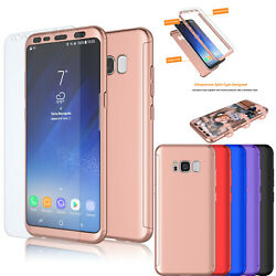For Samsung Galaxy S8 S8 Plus 360° Shockproof Case Cover Screen Protector $4.98
