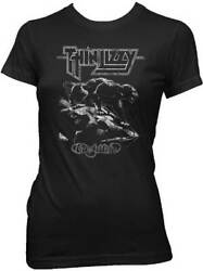 THIN LIZZY - Nightlife Women's T-Shirt - Size Large L - Classic Hard Rock