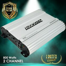 Audiobank 2 Channels 800 WATTS Bridgedable Car Audio Stereo Amplifier P802 $52.99