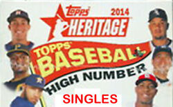 2014 Topps Heritage High Singles You Pick Nr Mint $0.99