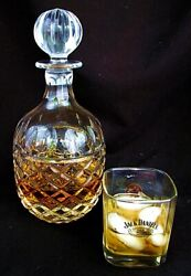 ANTIQUE CRYSTAL WHISKEY DECANTER *CUT CRYSTAL* LG STOPPER c.1920 $149.00