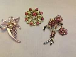 LOT OF 3 LADY'S PINK PINS