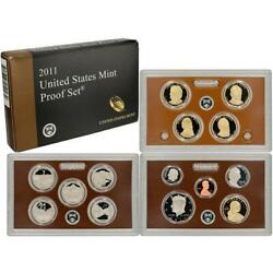 2011 ORIGINAL US MINT PROOF SET BOX & CARD GREAT BIRTH YEAR GIFTS!