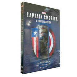CAPTAIN AMERICA 1 2 & 3 (DVD) 3-MOVIE COLLECTION TRILOGY BOX SET -NEW-