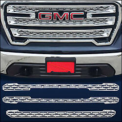 Chrome Grille Overlay  Trim FITS 2019 2020 GMC Sierra 1500 (SLT  AT4 ONLY!)