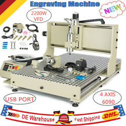 USB 4 Axis 2.2KW 6090 CNC Router Engraver Drill Mill Cutter Machine Water-cooled