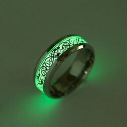 Glo Ring Luminous Dragon Rings Stainless Steel Fashion Jewelry Glo In The Dark $9.87