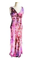 NEW J Crew Sophia Silk Maxi dress Tie Dye pink purple black formal gown S 2 4 6