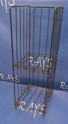 Floor Magazine Stand 2 Pocket 8.5quot; x 11quot; 31quot; Tall Sign Holder Black $49.95