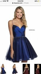 NEW Sherri Hill Navy Short Cocktail Party Dress Size 00 Style # 53003 $150.00